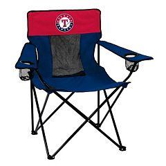 Logo Brand Texas Rangers Elite Fold-Up Chair