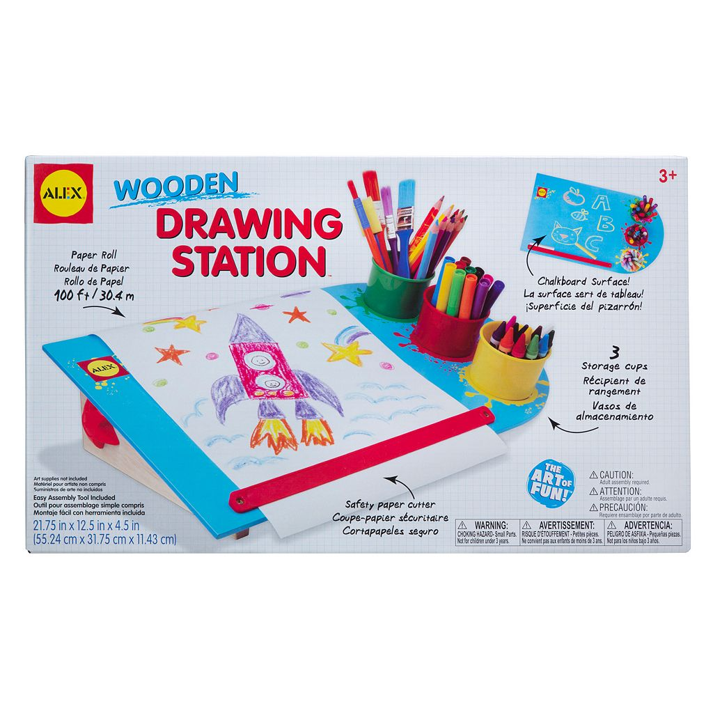 ALEX Wooden Drawing Station