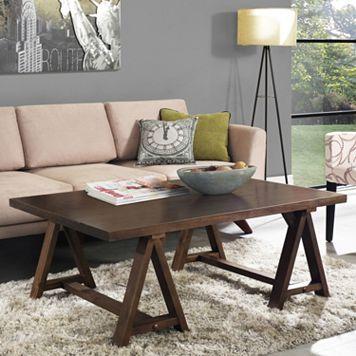 Simpli Home Sawhorse Coffee Table
