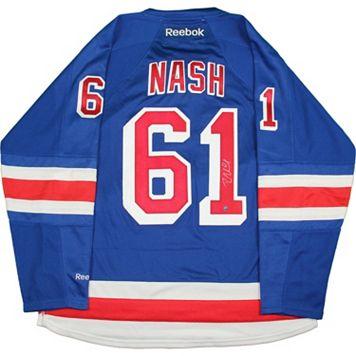 Steiner Sports Rick Nash Signed New York Rangers Jersey