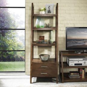 Simpli Home Sawhorse Ladder Storage Bookshelf