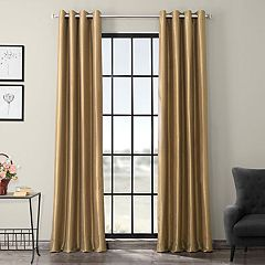 EFF 1-Panel Grommet Blackout Vintage Textured Faux Silk Duponi Window Curtain