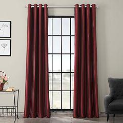 EFF Grommet Blackout Vintage Textured Faux Silk Duponi Window Curtain
