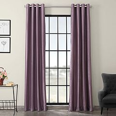 EFF 1-Panel Grommet Blackout Vintage Textured Faux Silk Duponi Window Curtain