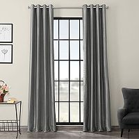 EFF Grommet Blackout Vintage Textured Faux Silk Duponi Window Curtain