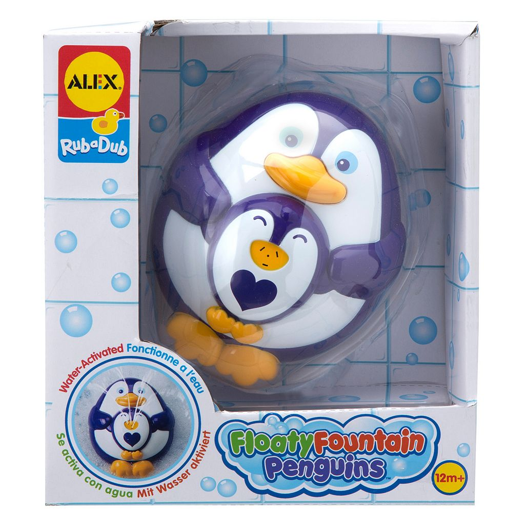 ALEX Rub a Dub Floaty Fountain Penguins