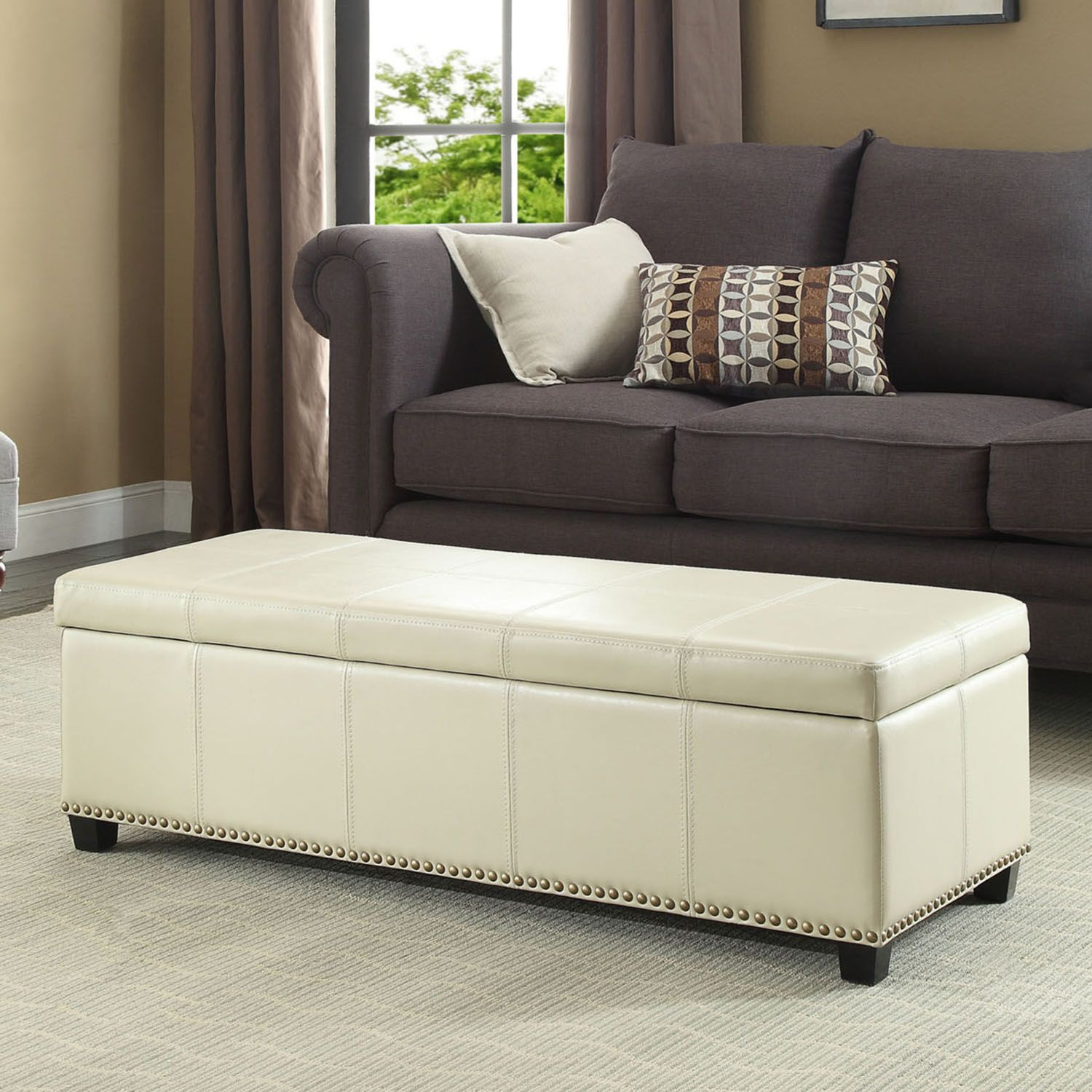 Home Kingsley Rectangular Storage Ottoman Bench