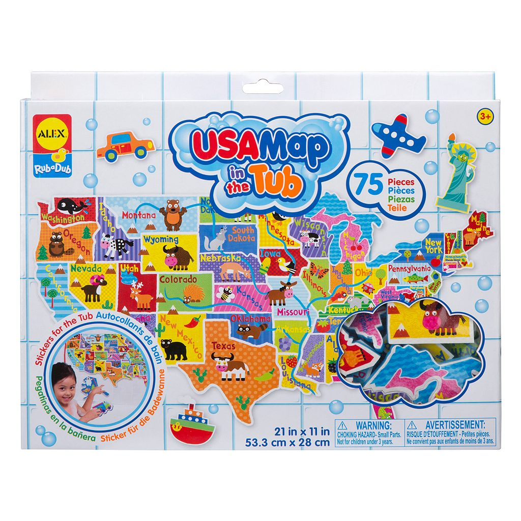 ALEX Rub a Dub USA Map in the Tub