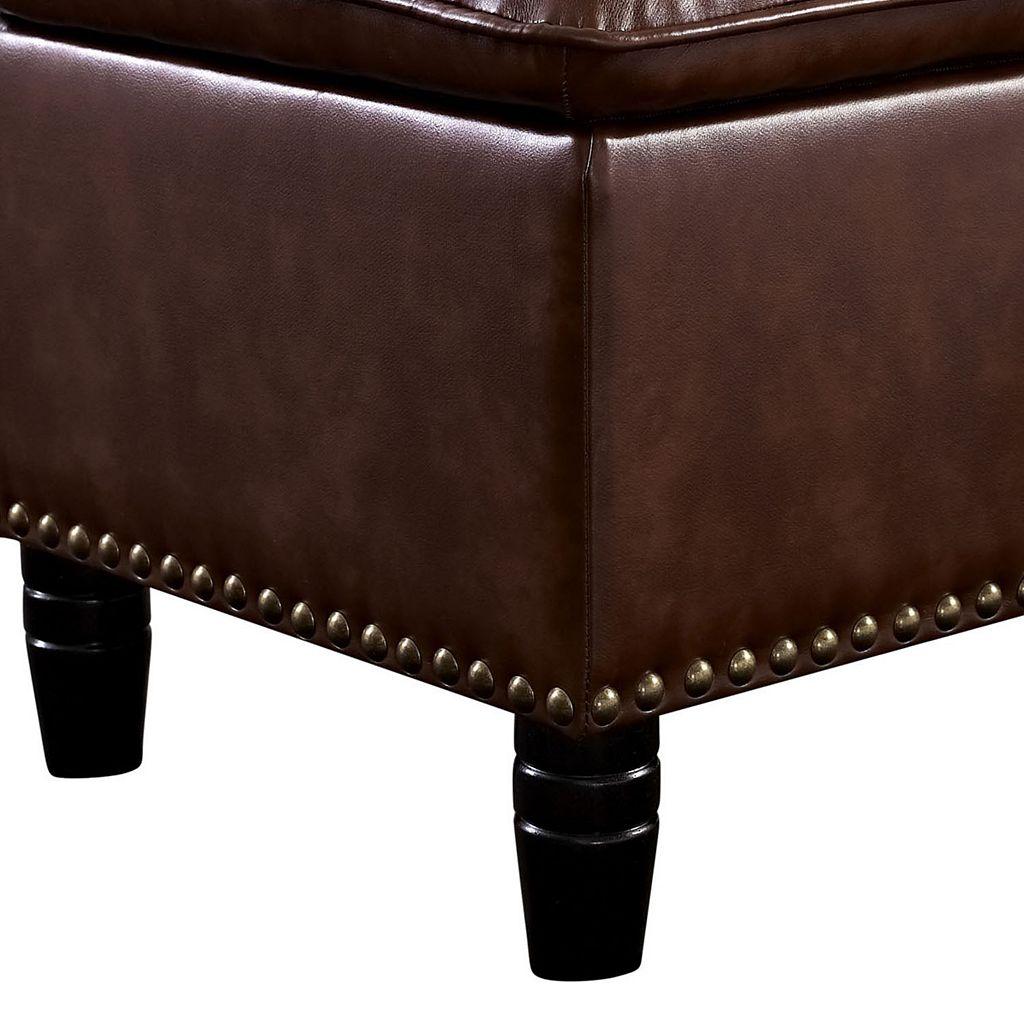 Simpli Home Pillow Top Storage Ottoman