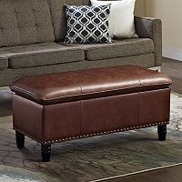 Simpli Home Pillow Top Storage Ottoman