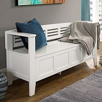 Simpli Home Adams Entryway Storage Bench