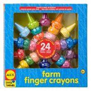 ALEX Little Hands 24 pc Farm Finger Crayons