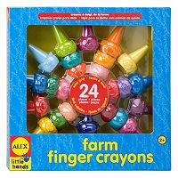 ALEX Little Hands 24 pc Farm Finger Crayons
