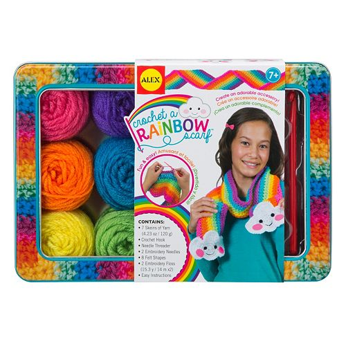 ALEX Crochet A Rainbow Scarf