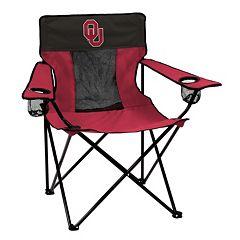 Logo Brand Oklahoma Sooners Elite Fold-Up Chair