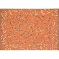 Safavieh Courtyard Scroll Indoor Outdoor Rug