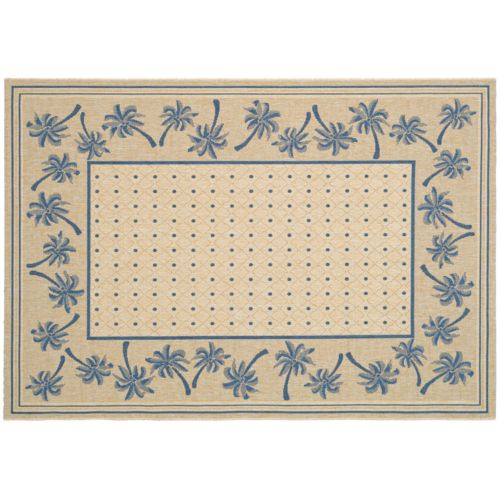 Safavieh Courtyard Palm Trees Indoor Outdoor Rug