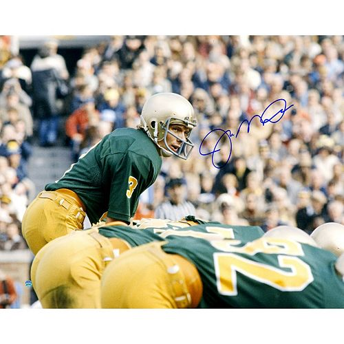 Steiner Sports Notre Dame Fighting Irish Joe Montana At The Line Of Scrimmage 16 x 20 Signed Photo