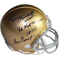 Steiner Sports Notre Dame Fighting Irish Terry Henratty & Ara Parseghian Autographed Mini Helmet
