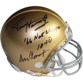 Steiner Sports Notre Dame Fighting Irish Terry Henratty & Ara Parseghian Autographed Mini Helmet