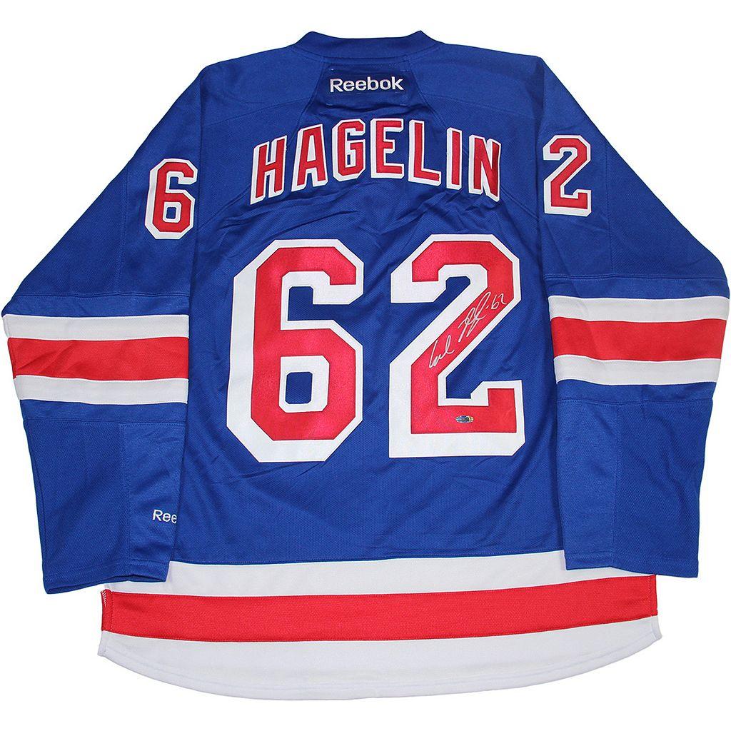Steiner Sports Carl Hagelin Signed New York Rangers Jersey