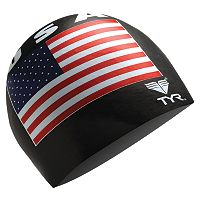 Men's TYR USA Silicone Swim Cap