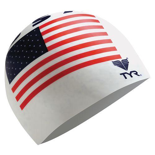 Men's TYR USA Silicone Swim Cap