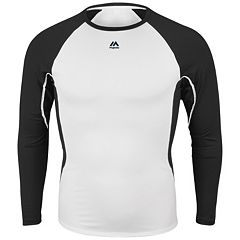 Majestic Youth Baseball Raglan Premier Warrior Fitted Base Layer Tee