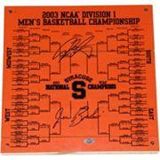 Steiner Sports Syracuse Orange Jim Boeheim & Carmelo Anthony 12' x 12' Signed Bracket