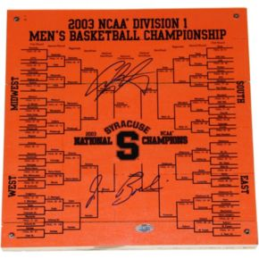 "Steiner Sports Syracuse Orange Jim Boeheim & Carmelo Anthony 12"" x 12"" Signed Bracket"