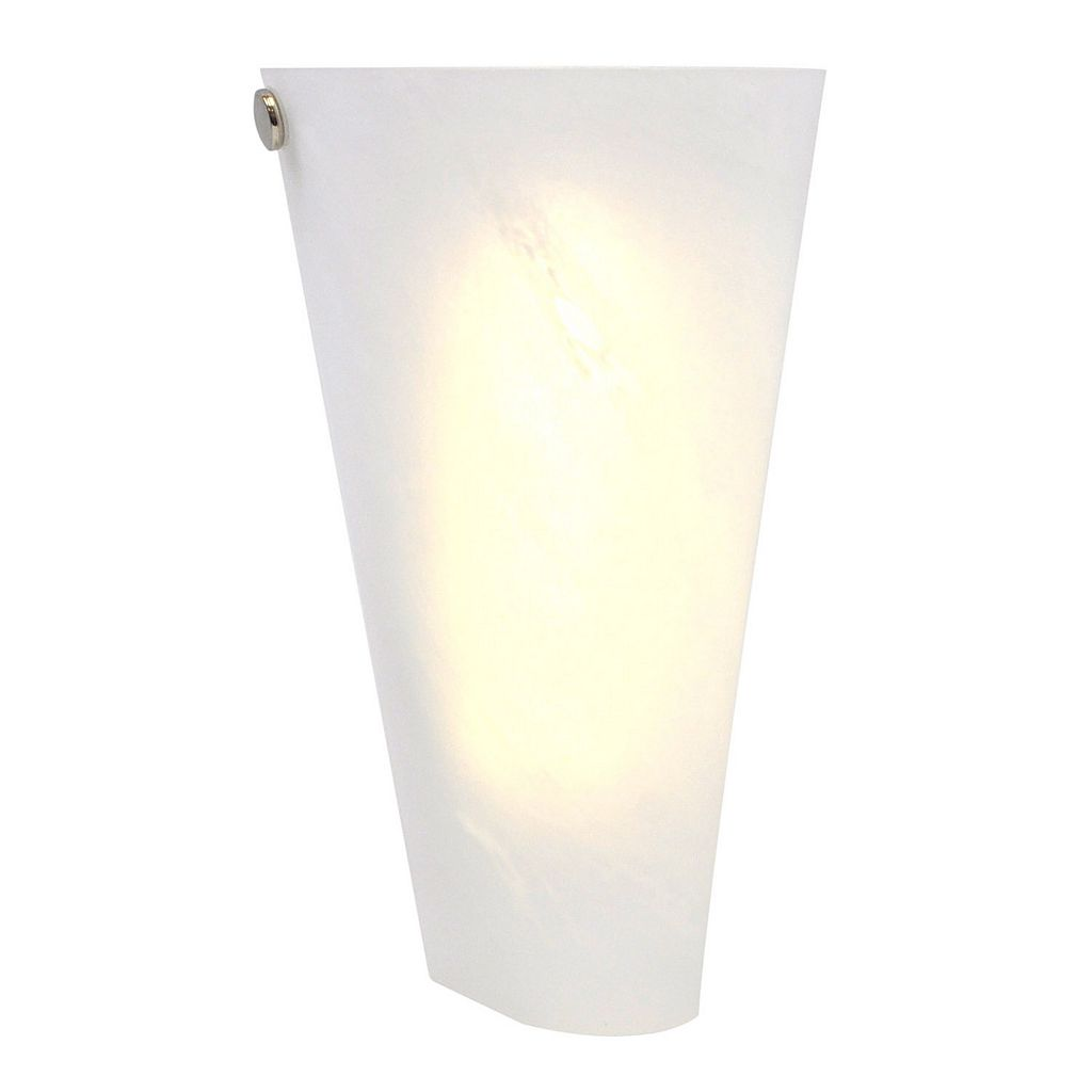 It's Exciting Lighting Frosted Marble Wireless Indoor / Outdoor Conical LED Wall Sconce