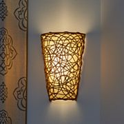 It's Exciting Lighting Wicker & Flicker Wireless Indoor / Outdoor Wall Sconce