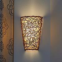 It's Exciting Lighting Wicker & Flicker Wireless Indoor / Outdoor Wall Sconce