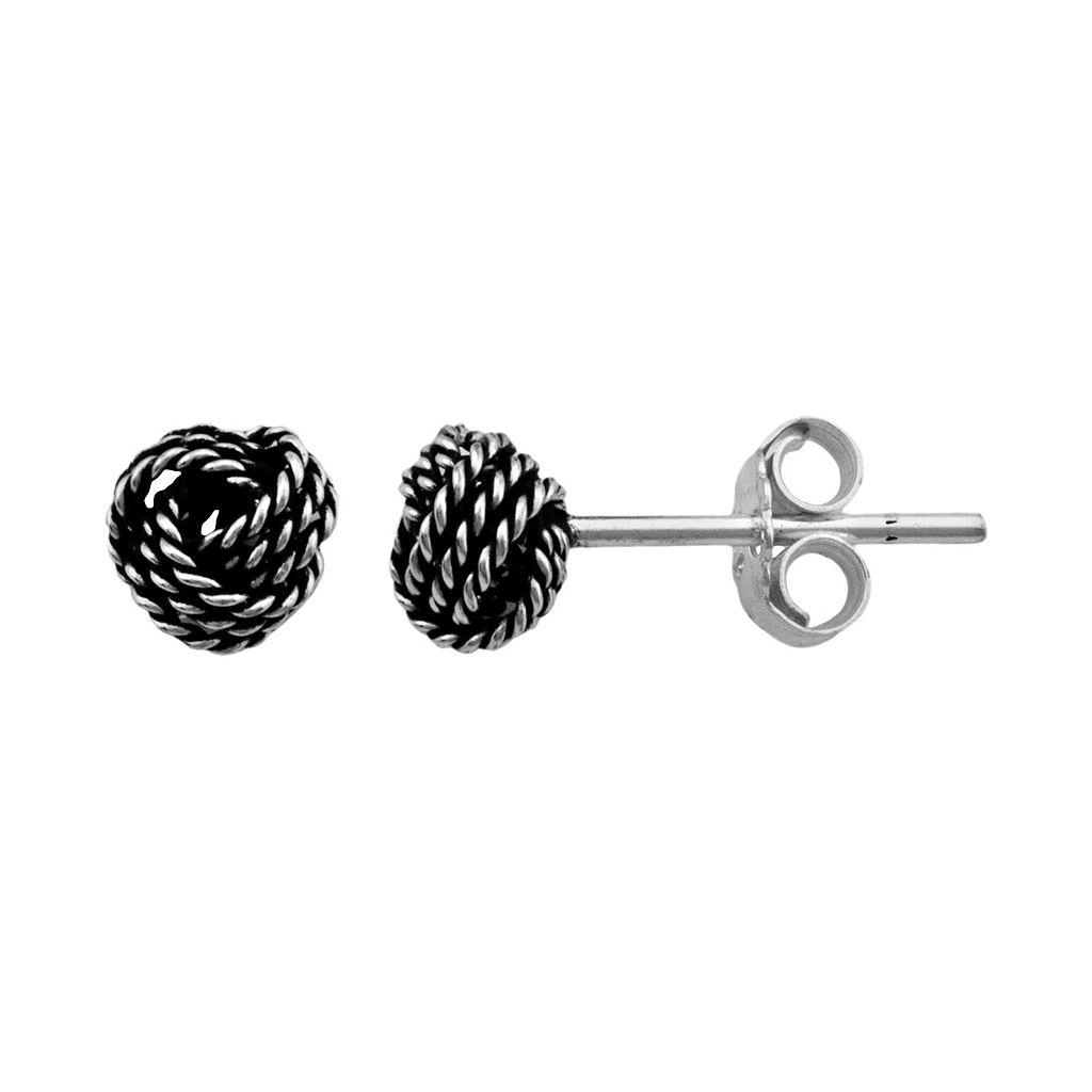 Itsy Bitsy Sterling Silver Knot Stud Earrings