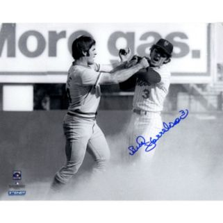 """Steiner Sports Bud Harrelson Fighting Pete Rose Signed 8"""" x 10"""" Photo"""