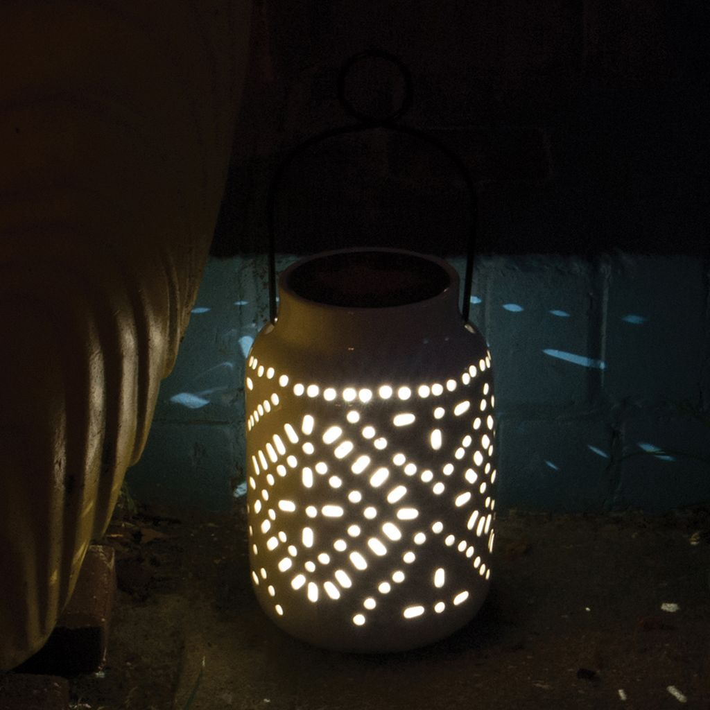 Tangier LED Ceramic Jar Lantern