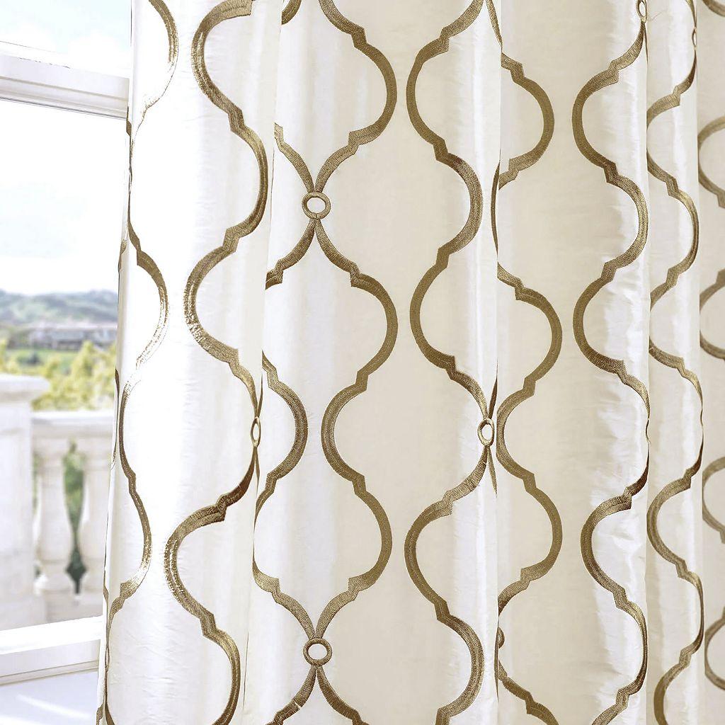 EFF Tunisia Embroidered Faux Silk Window Curtain