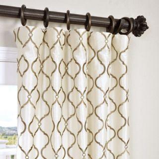 EFF 1-Panel Tunisia Embroidered Faux Silk Window Curtain