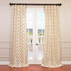 EFF Tunisia Embroidered Faux Silk Window Curtain