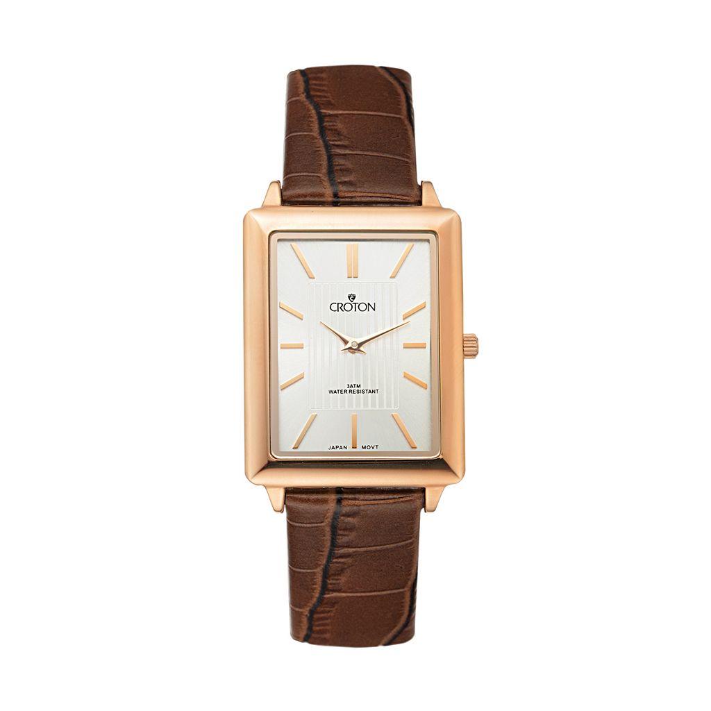 Croton Men's Leather Watch