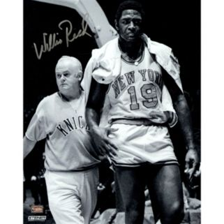 """Steiner Sports New York Knicks Willis Reed With Trainer 8"""" x10"""" Signed Photo"""