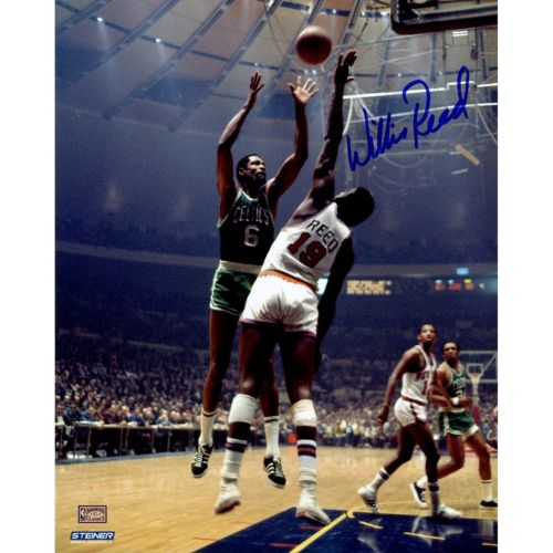 Steiner Sports New York Knicks Willis Reed Blocking Bill Russell 8