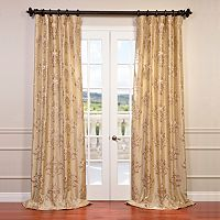 EFF Ankara Embroidered Faux Silk Taffeta Curtain