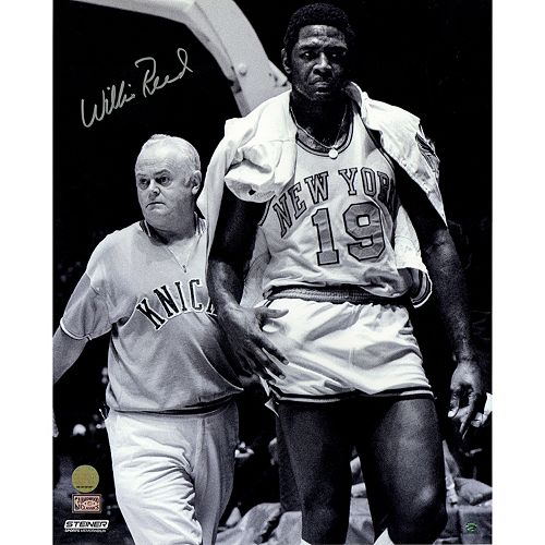 Steiner Sports New York Knicks Willis Reed With Trainer 16 x 20 Signed Photo