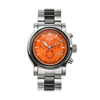 Croton Men's Stainless Steel & Ceramic Chronograph Watch - CC311125BKOR