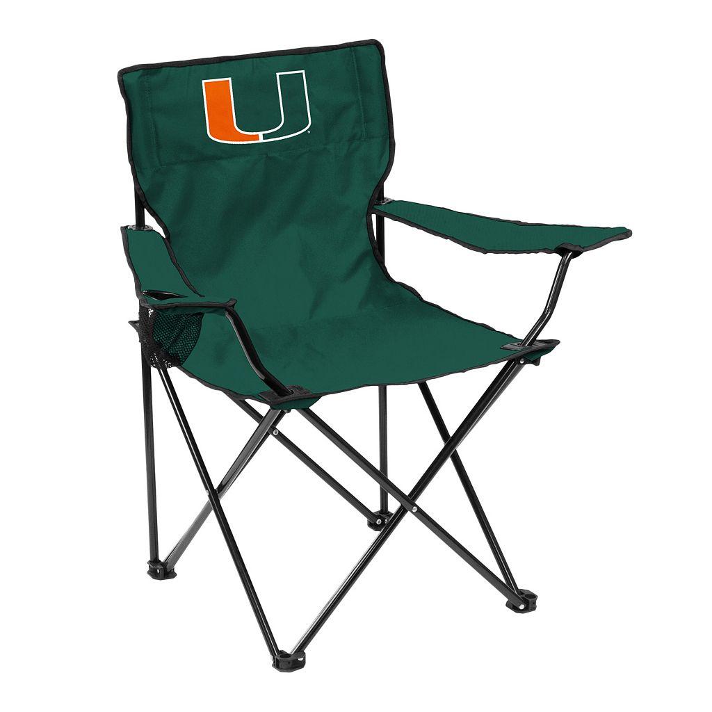 Logo Brand Miami Hurricanes Portable Folding Chair