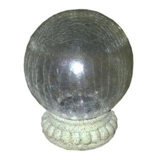Crackled Glass LED Light Gazing Ball
