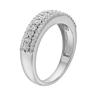 1/3 Carat T.W. Diamond Sterling Silver Anniversary Ring