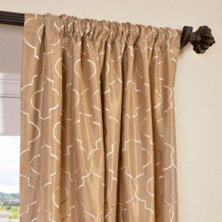 EFF Algers Embroidered Faux Silk Window Curtain
