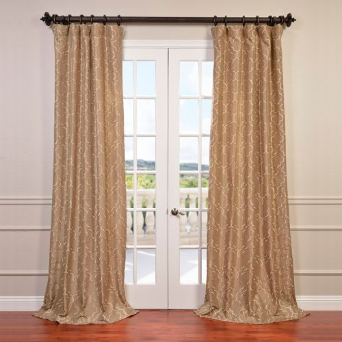 EFF Algers Embroidered Faux Silk Curtain